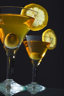 Free Two Bocals  Of Martini Stock Image - 16763271