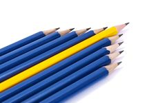 Free Row Of Pencils In Form Of Arrow Royalty Free Stock Image - 16763356