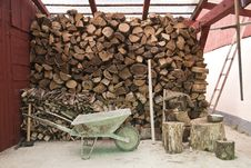 Pile Of Logs For Firewood