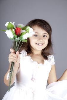 Free Young Girl In Dress And Flowers. Royalty Free Stock Photography - 16764497