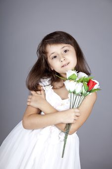 Free Young Girl In Dress And Flowers. Royalty Free Stock Photography - 16764507