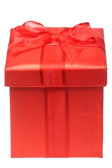 Red Giftbox Stock Photography