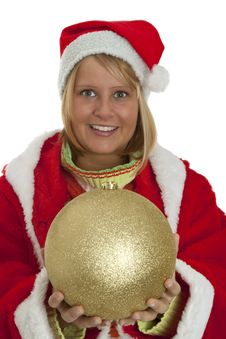 Free Chrismas Girl Stock Photo - 16765020