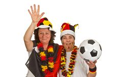 Free Female Soccer Fans Stock Images - 16765104