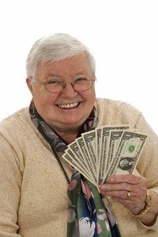 Free Grandma With Dollars Stock Photo - 16765150