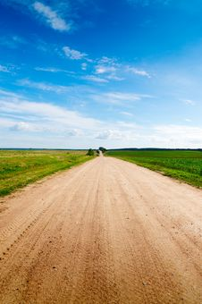 Long Road To Green Hills. Royalty Free Stock Image