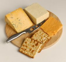 Cheese And Buscuits Royalty Free Stock Image