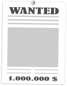 Free Wanted One Million Dollars Royalty Free Stock Photos - 16766228