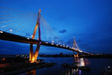 Free King Bhumibol Bridge Royalty Free Stock Images - 16766409