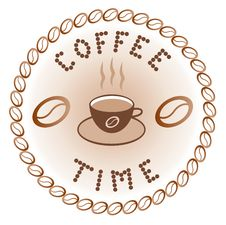 Free Sign Of Coffee Time Stock Photography - 16766552