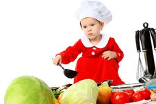 Free Kitchen Child Stock Image - 16766661