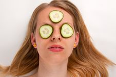 Free Cucumber Face Mask Royalty Free Stock Images - 16767339
