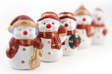 Free Snowman Figurine Royalty Free Stock Photos - 16768018