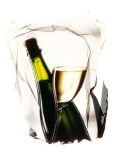 Free Bottles And Glass Of White Wine Royalty Free Stock Photos - 16768028
