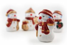 Free Snowman Figurine Stock Photography - 16768122