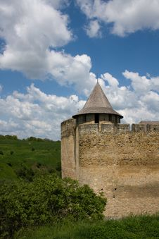 Free Entrance View Of The Khotyn Fortress. Khotyn Royalty Free Stock Image - 16768186