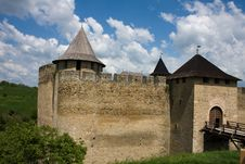Free Entrance View Of The Khotyn Fortress. Khotyn Royalty Free Stock Image - 16768216