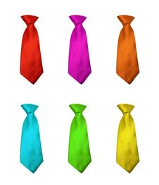 Free Neckties In Different Colours Stock Photography - 16768402