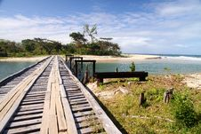 Free Wooden Bridge On The Coast Royalty Free Stock Photos - 16768418