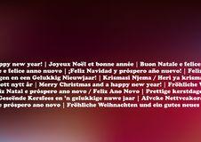 Christmas Card Languages Stock Photos