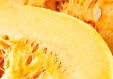 Freshly Cut Pumpkin Stock Photography