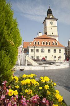 Central Square Of Brasov - Romania Stock Photography