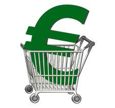 Free Shopping Cart Euro Stock Photos - 16769833