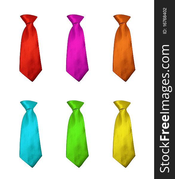 Neckties in different colours
