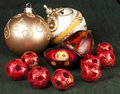 Free Open Red Ornament With Gold Ball Stock Photos - 16771053