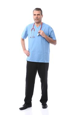 Free Doctor Holding A Stethoscope Stock Image - 16770151