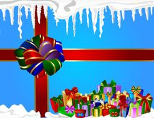 Free Christmas Present Background Royalty Free Stock Image - 16770166