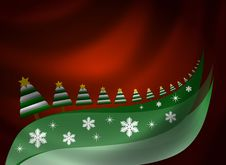 Free Christmas Background With Trees Stock Photos - 16770273