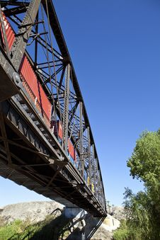 Free Steel Train Bridge Royalty Free Stock Photo - 16770465