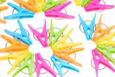 Free Colorful Clothespins Stock Images - 16770794