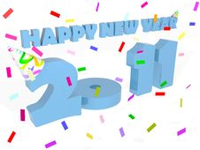 Free Happy New Year 2011 Royalty Free Stock Photos - 16770828