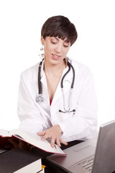 Free Looking Down At Book Doctor Stock Photography - 16770922