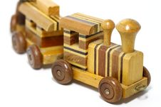 Free Wooden Toy Train Royalty Free Stock Photo - 16771425