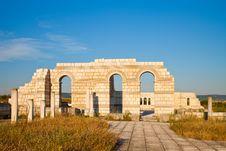 The Great Basilica At Pliska Stock Photo