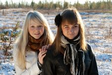 Free Two Young Beautiful Girls Stock Photography - 16772692