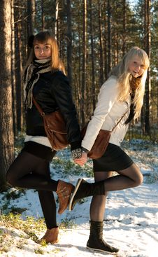 Free Two Young Beautiful Girls Stock Photos - 16772723