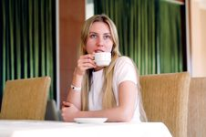 Free Woman In Cafe Royalty Free Stock Photography - 16773067