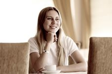 Free Woman In Cafe Royalty Free Stock Photos - 16773078