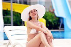 Women In White Bikini Stock Image