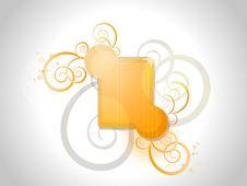 Free Orange Floral Frame Royalty Free Stock Image - 16773496
