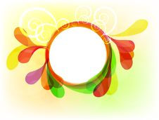 Free Multicolor Floral Frame Stock Photography - 16773552