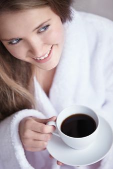 Free The Girl With Coffee Royalty Free Stock Photo - 16773765