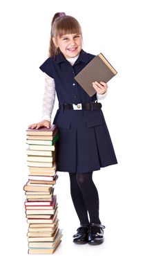 Free Schoolgirl With Books Stock Images - 16773784
