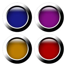 Free Set Of Color Web Buttons Stock Photos - 16774023