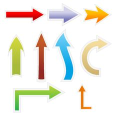 Free Colorful Arrows Royalty Free Stock Photos - 16775358