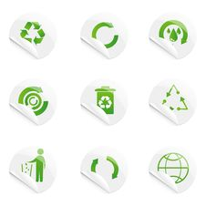 Free Recyle Stickers Royalty Free Stock Photography - 16775387